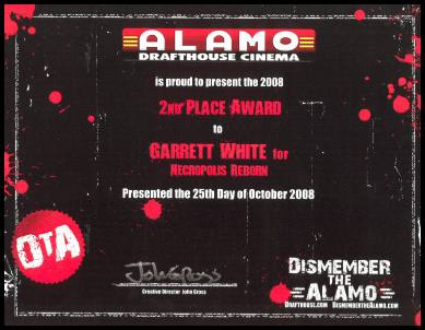Alamo Drafthouse Dismember The Alamo Award