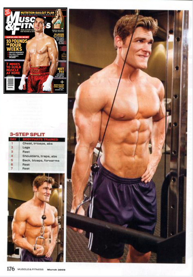 Brandon Myles White, Muscle & Fitness March 2009
