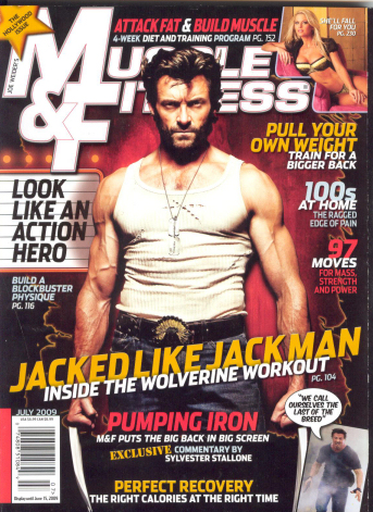Muscle Fitness July 2009 Hugh Jackman